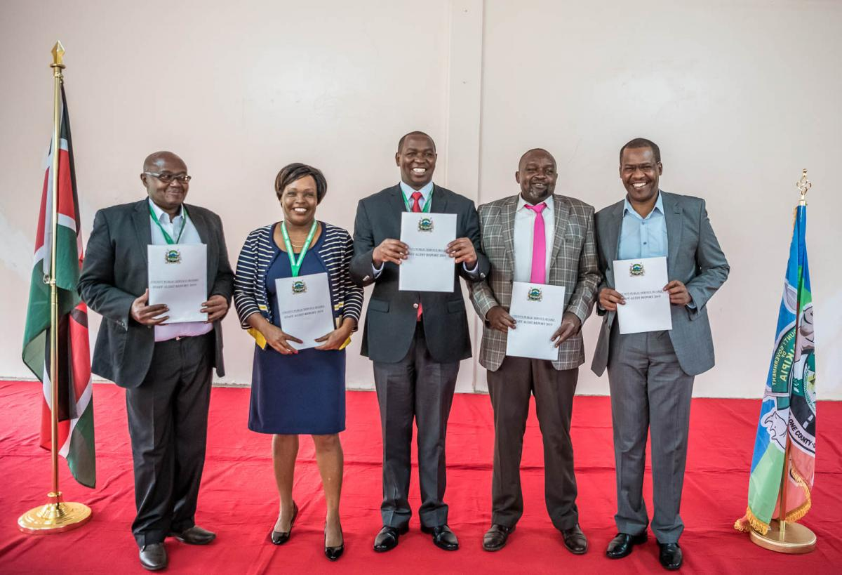 Staff Audit Report Handover to the Governor by the county public service board.