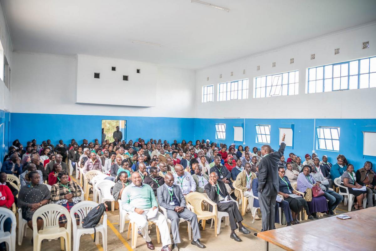 Laikipia West Staff Meeting hosted at Nyahururu Social Hall.