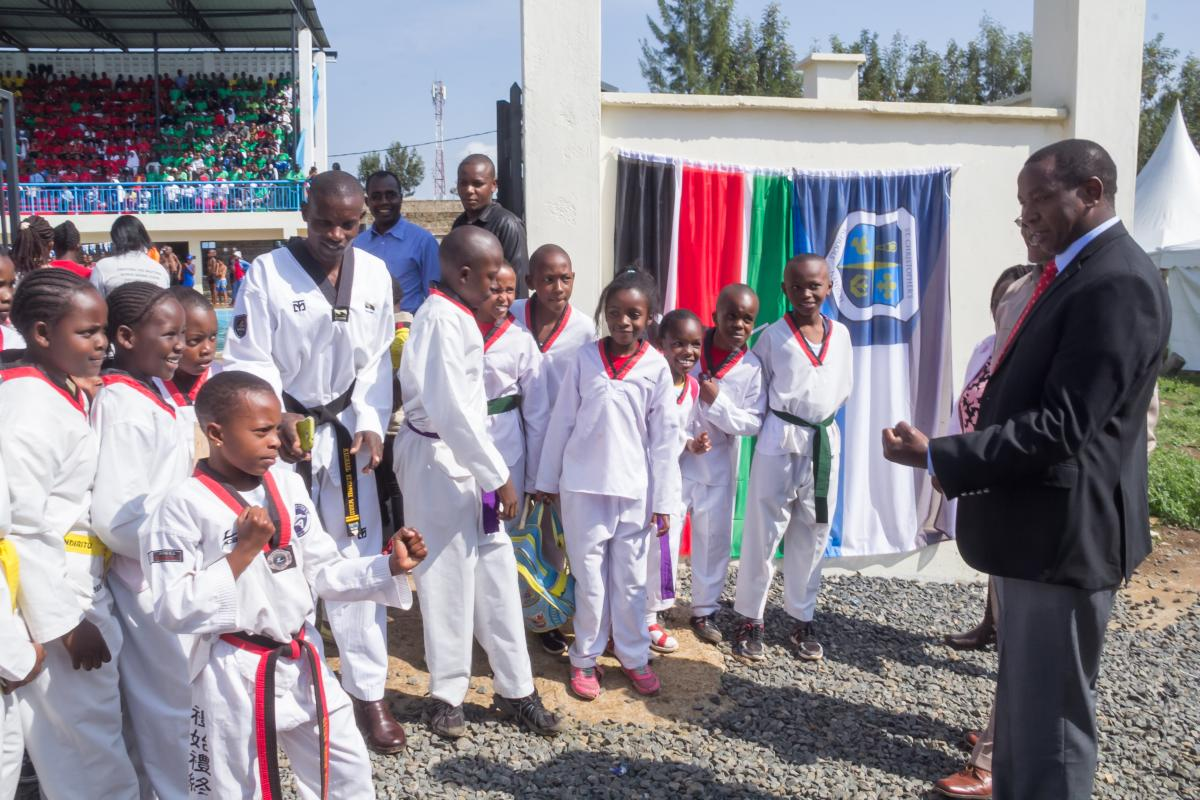 laikipia karate club meet with Governor Ndiritu Muriithi