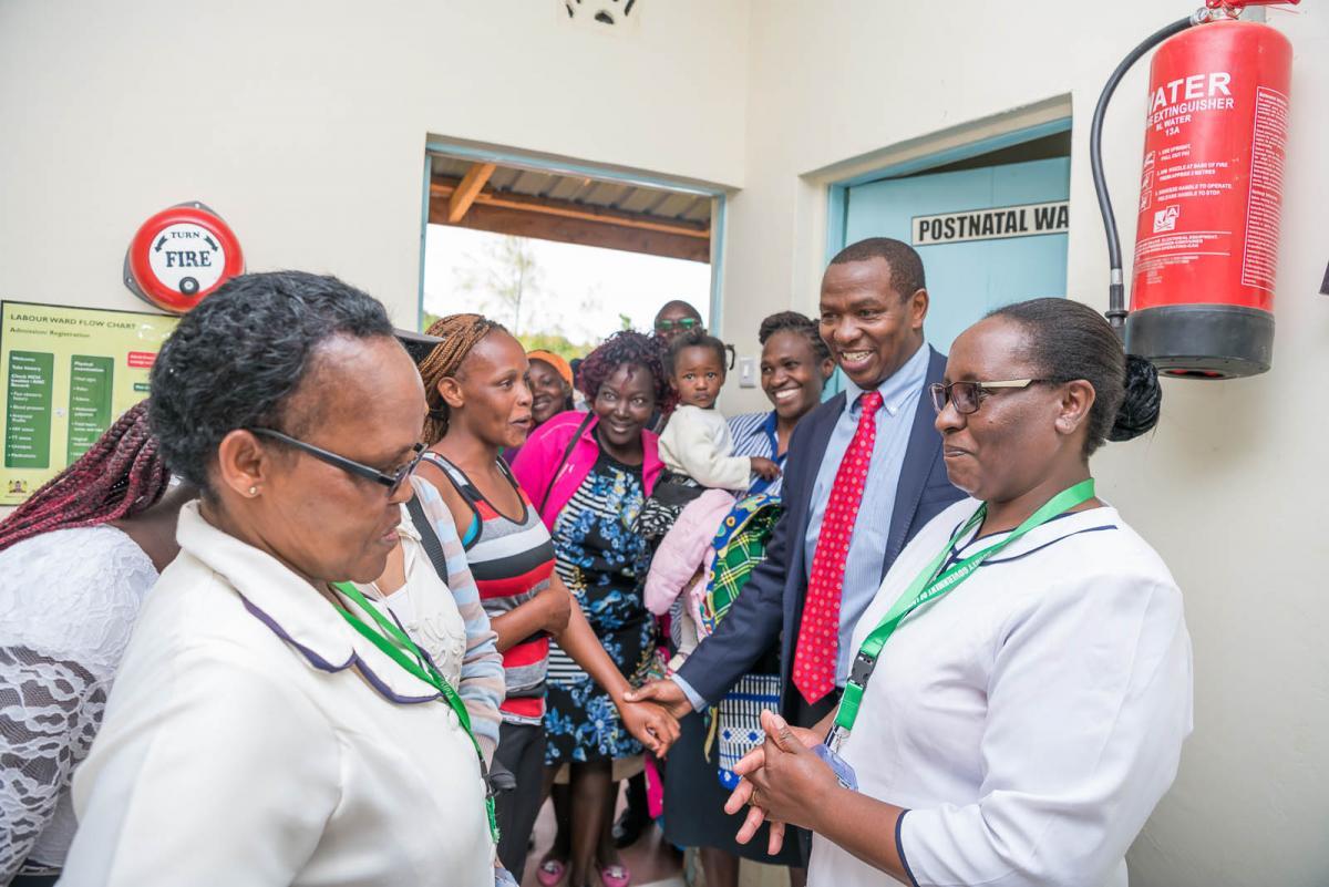 Governor Ndiritu muriithi opened New Maternity wing block at Nturukuma Dispensary, Nanyuki Ward.