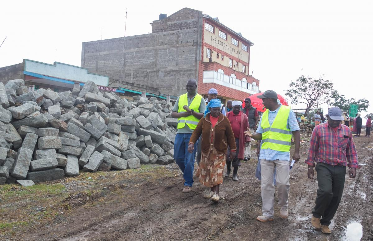Governor Ndiritu Muriithi inspecting smart town and infrastructure progress