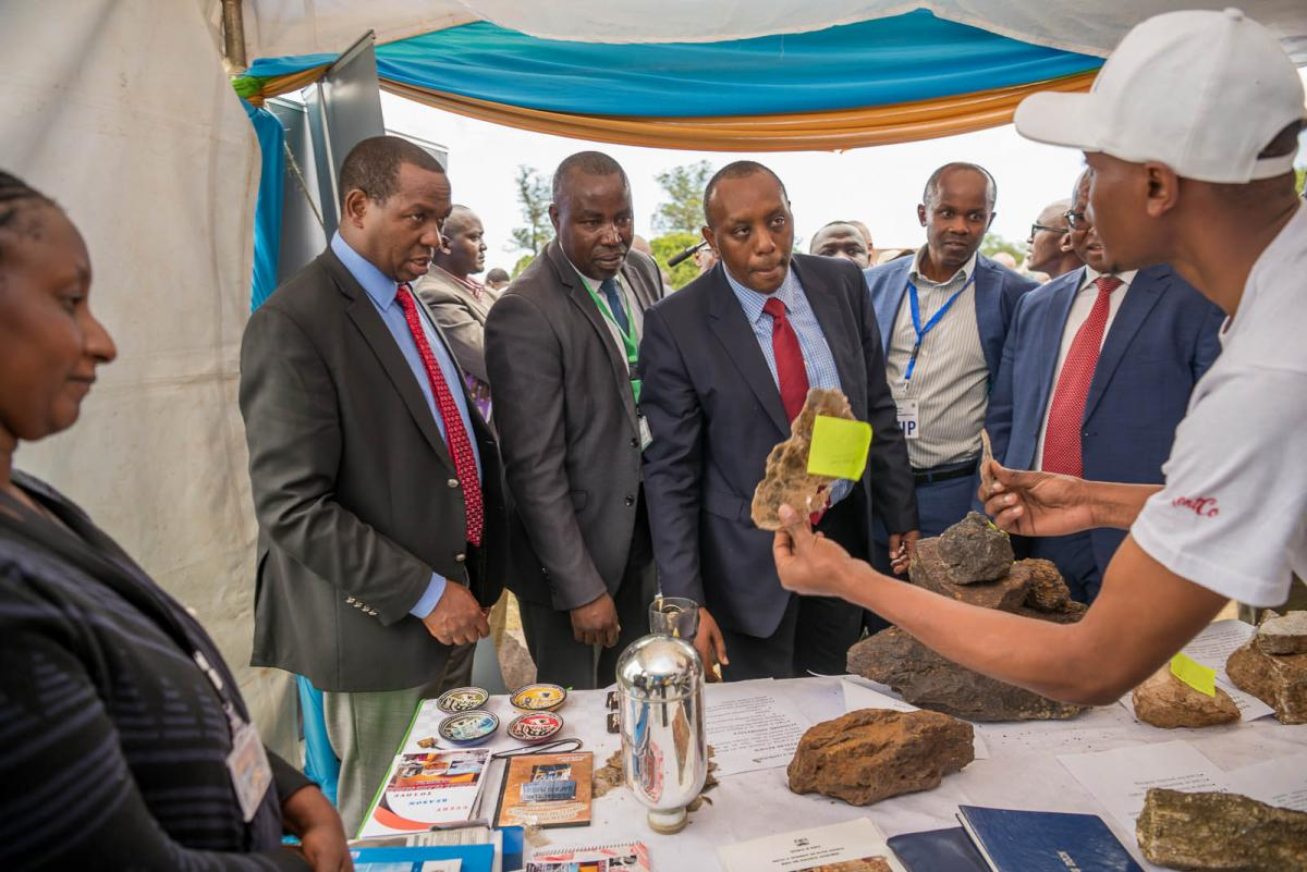 some of Laikipia minerals being displayed in the Exhibition Stand