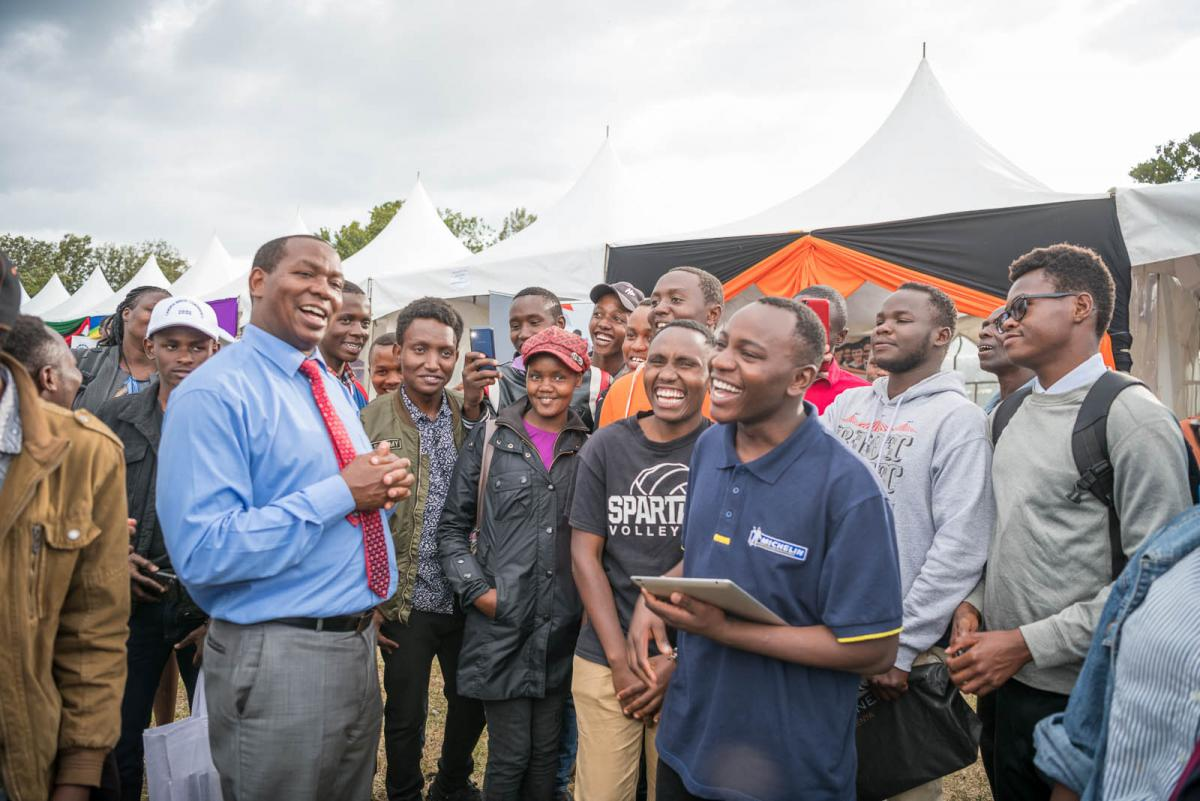Governor meet with the many young people from DeKut.(Dedan Kimathi University of Technology)
