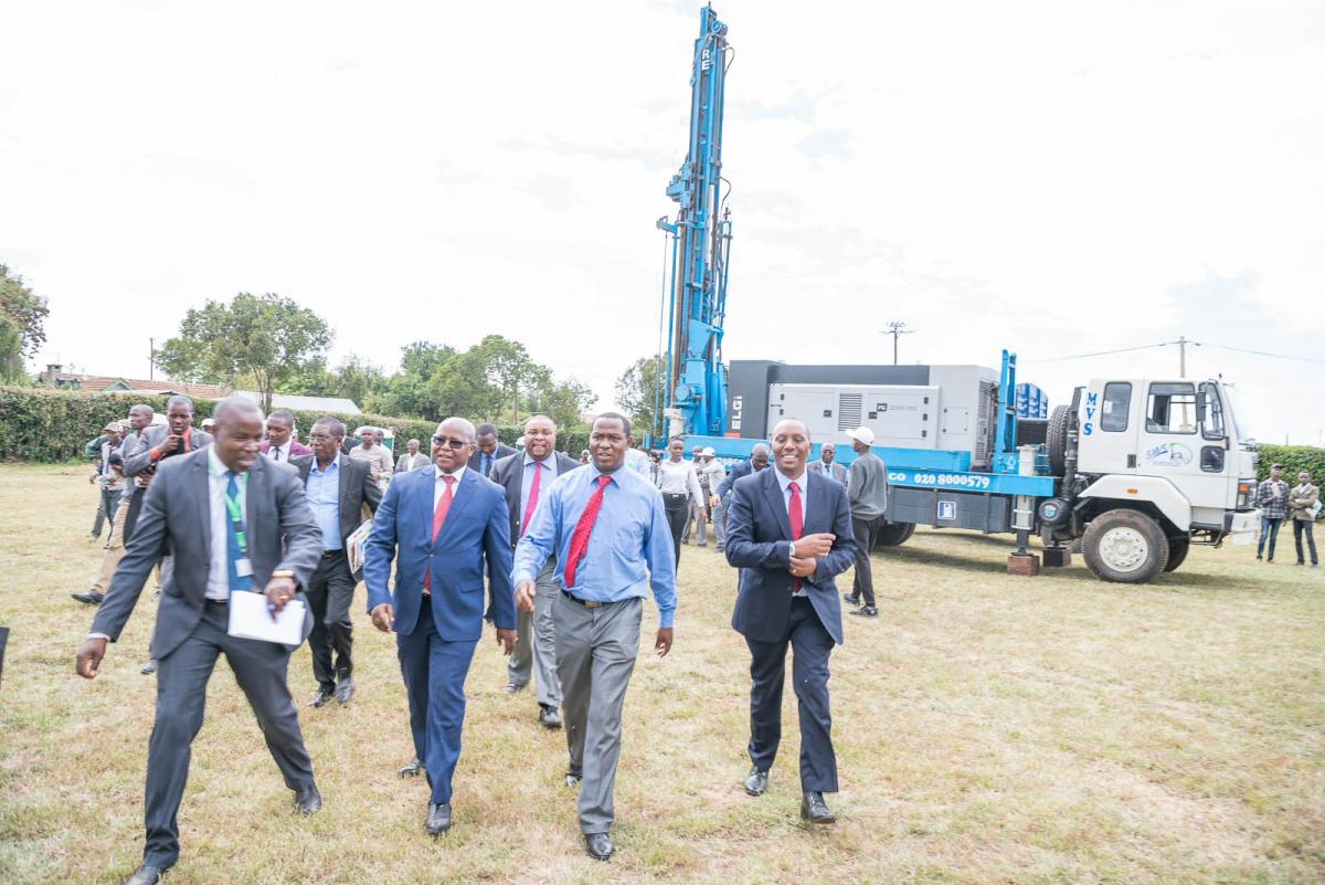 Drilling machine at laikipia mining conference 2020