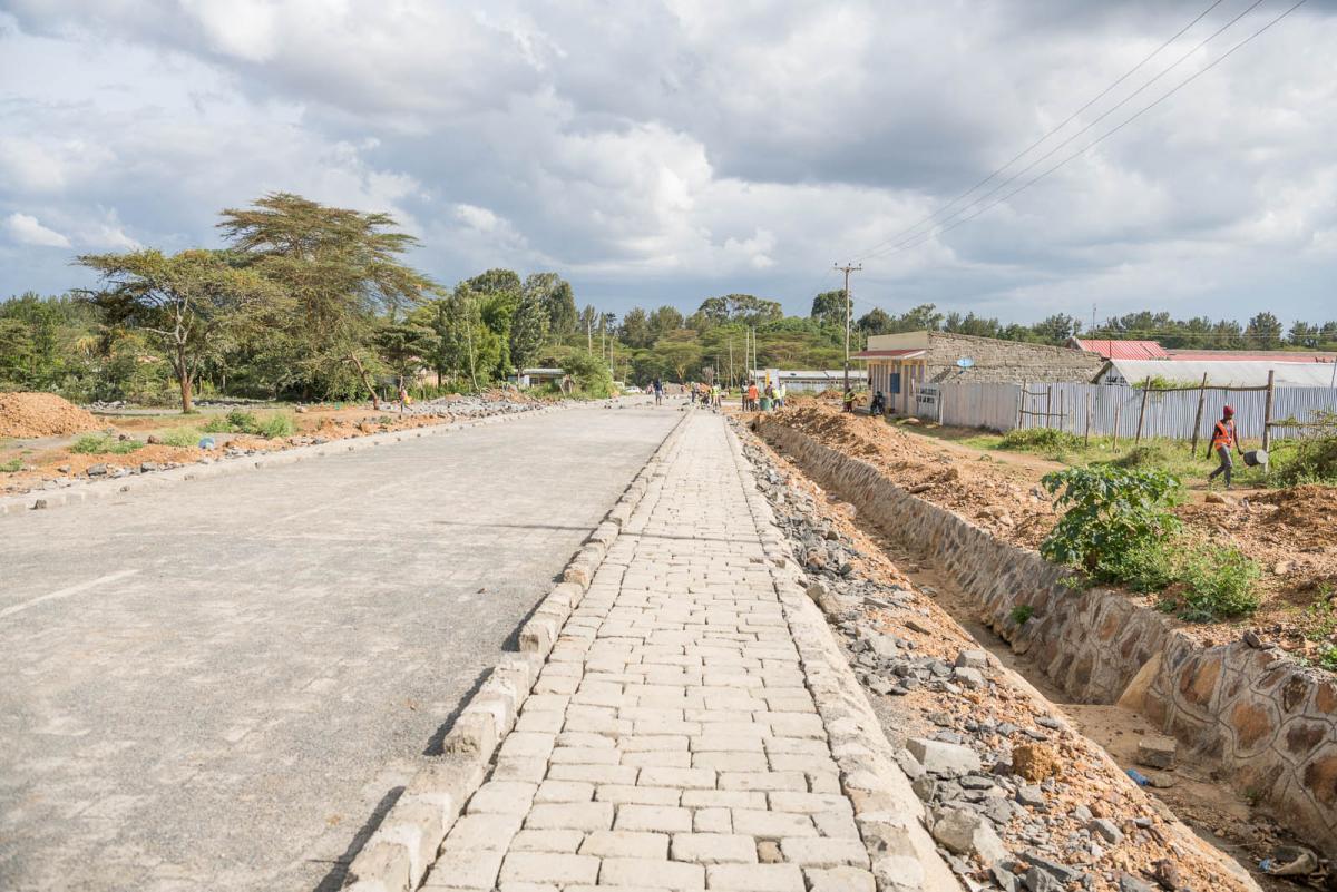 Rumuruti Cobblestone Work in Smart Town initiative by laikipia county Government