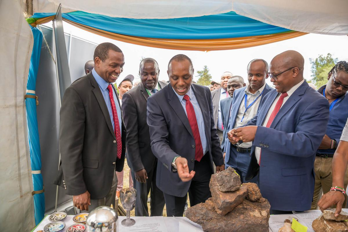 Governor Ndiritu muriithi & a team of mining specialist in laikipia mining conference exhibition