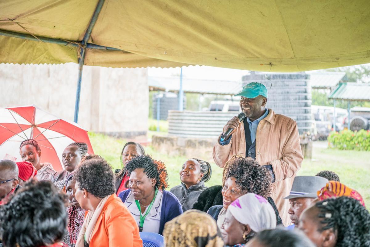 Members of the public participate in Lamuria Health day