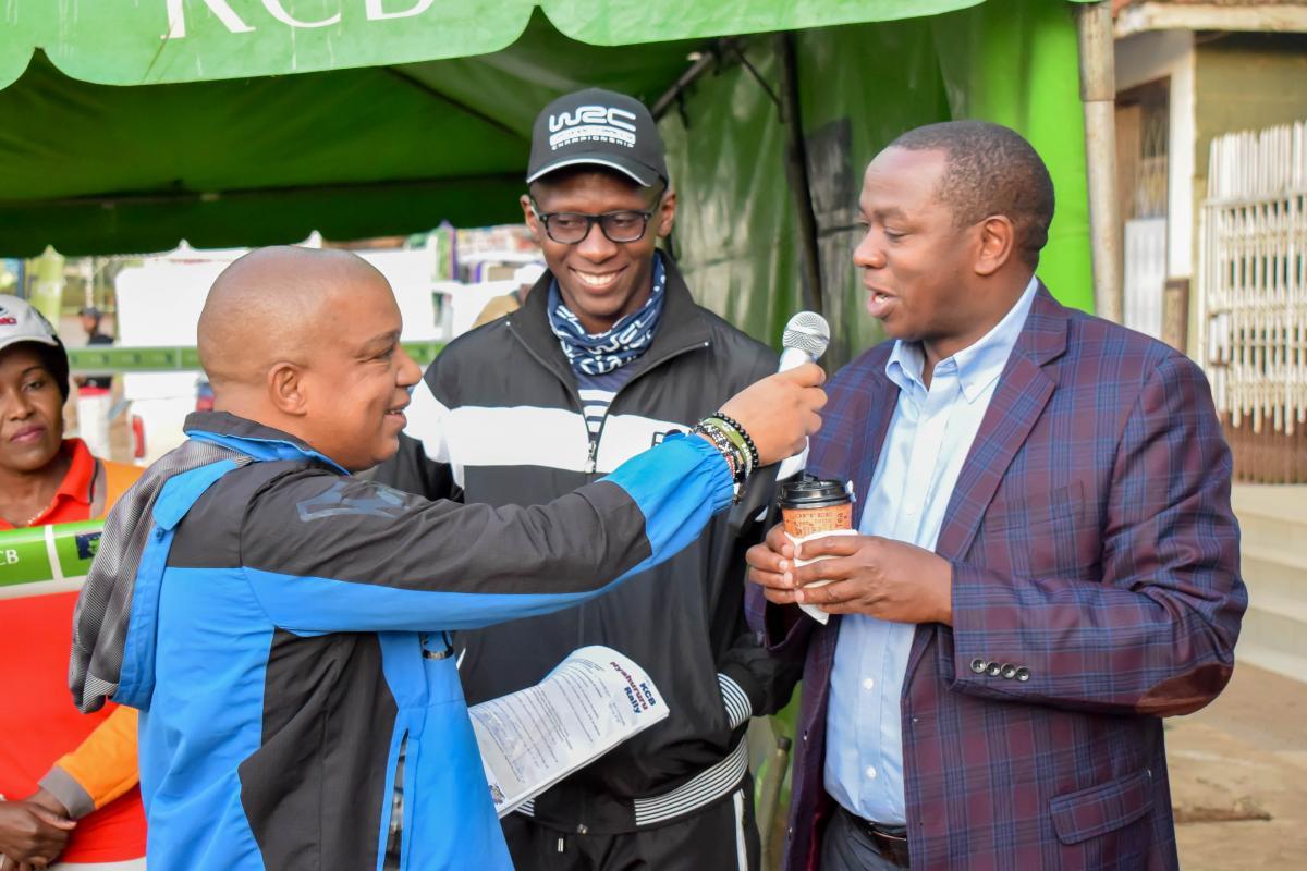 Governor Ndiritu muriithi during the flag off the KCB safari rally in Nyahururu town