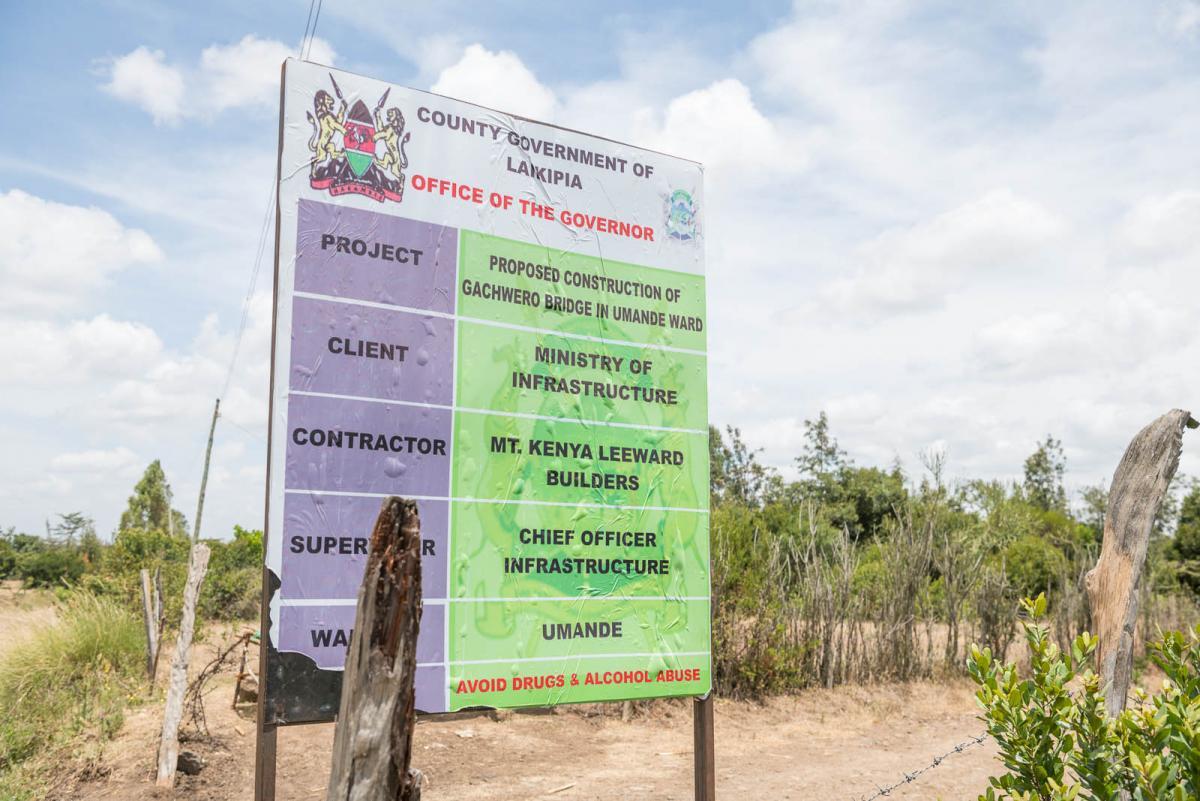 Gachwero Bridge Construction Umande Ward