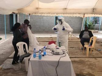 Staff training on corona preparedness