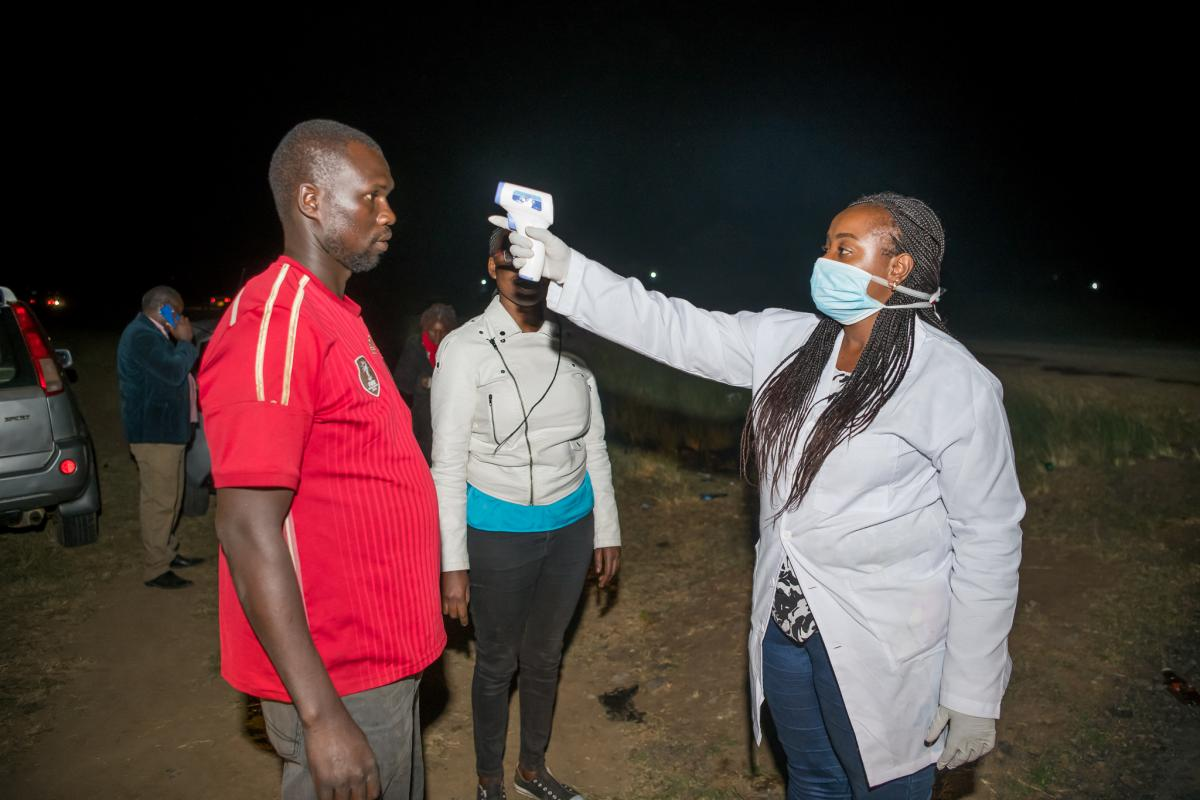 mandatory screening of all travelers into Laikipia at all the entry points