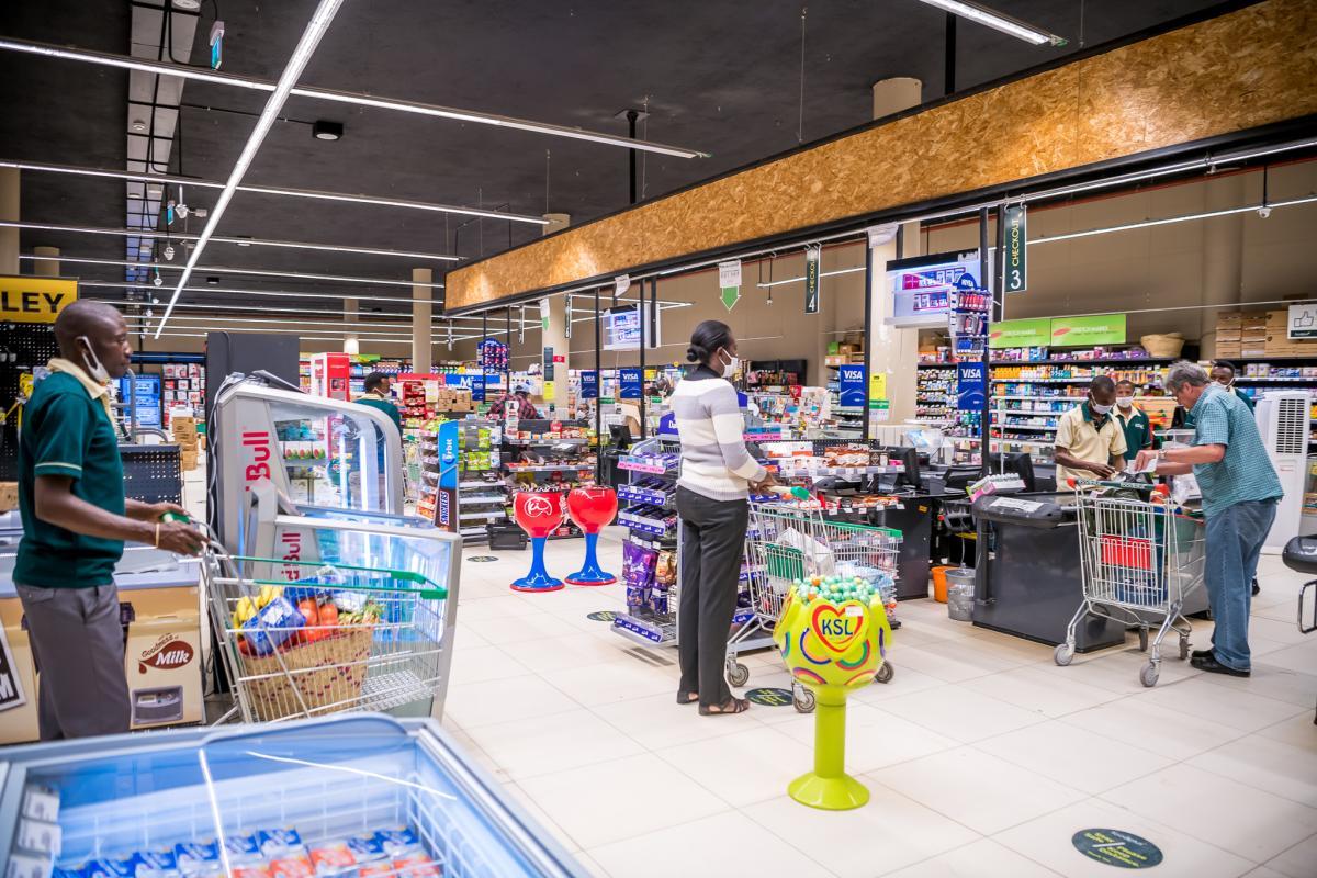 COVID 19_Chandarana Supermarket Social Distancing taking no chances