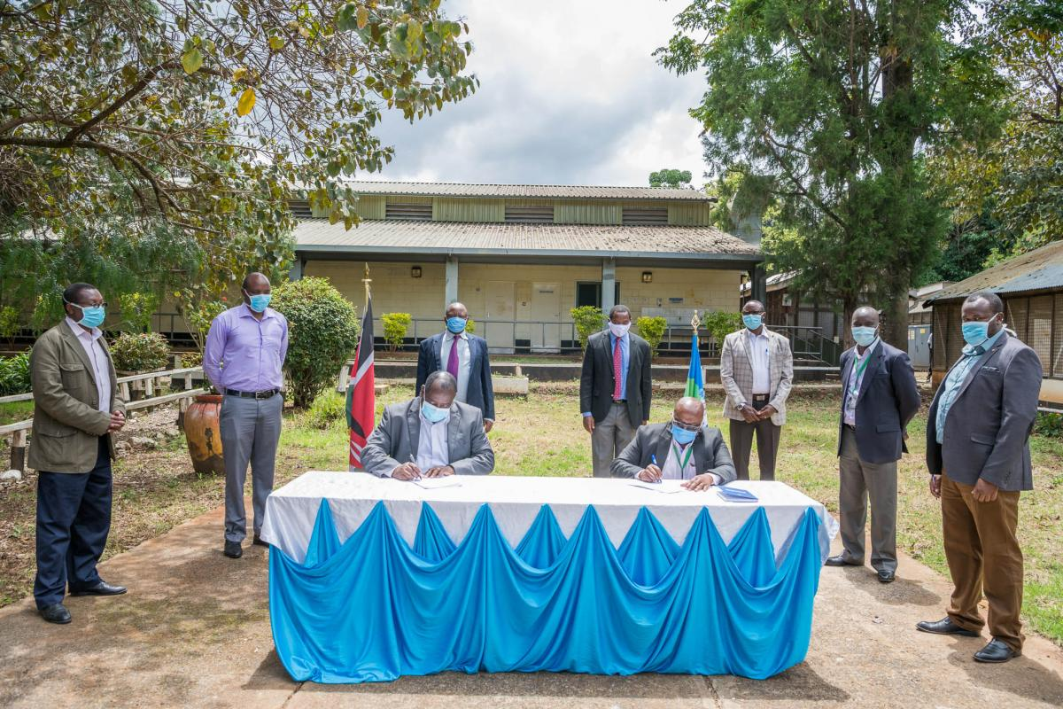 handover of the Nanyuki ASK Grounds to the County Government as a quarantine and isolation centre.