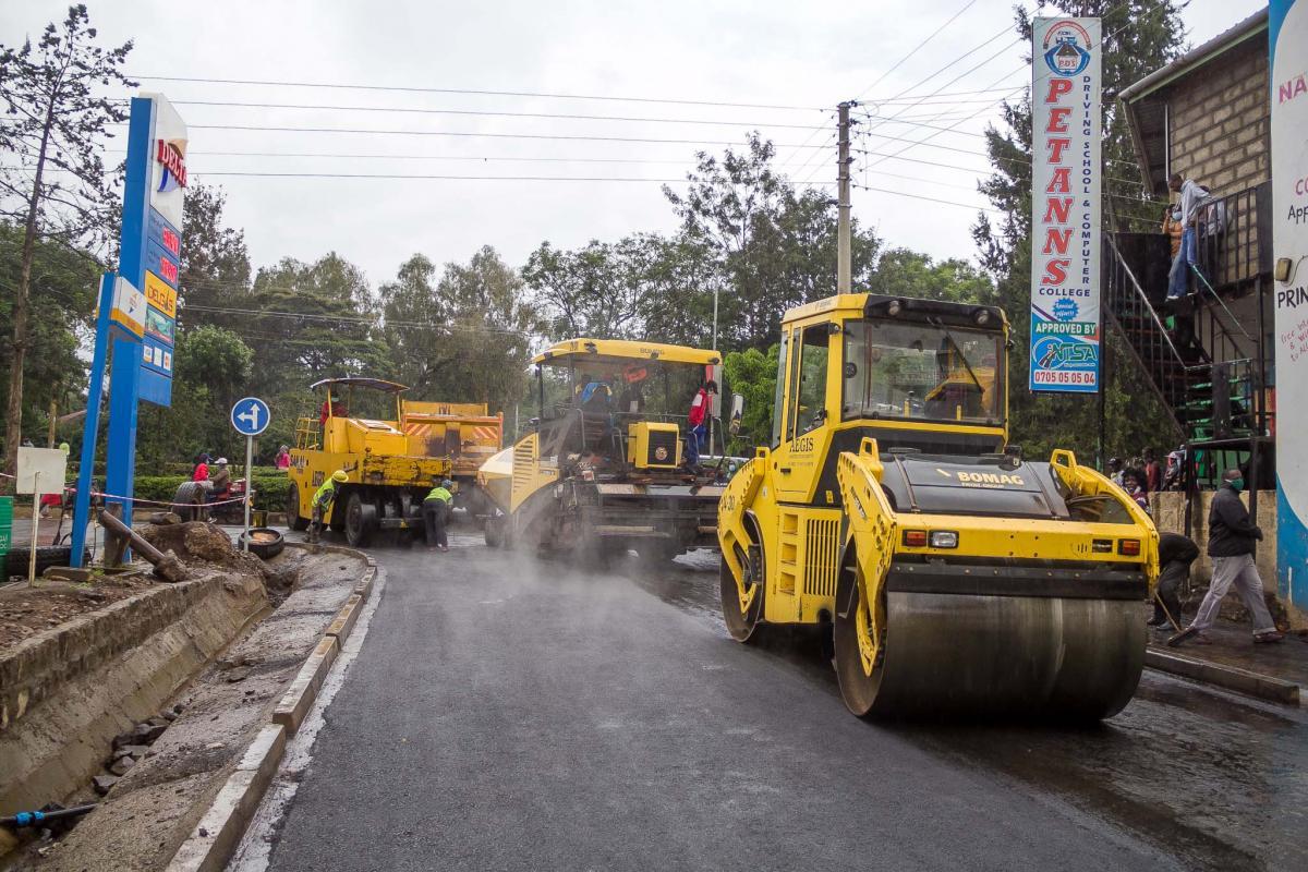 upgrading of Sagana Lane, Nanyuki