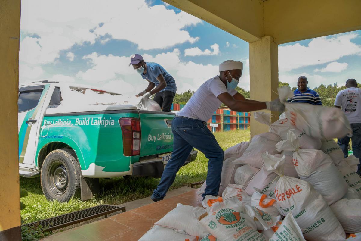 The Lisha Jamii Initiative Zero Contact Food Distribution continued in Nanyuki and its environs.