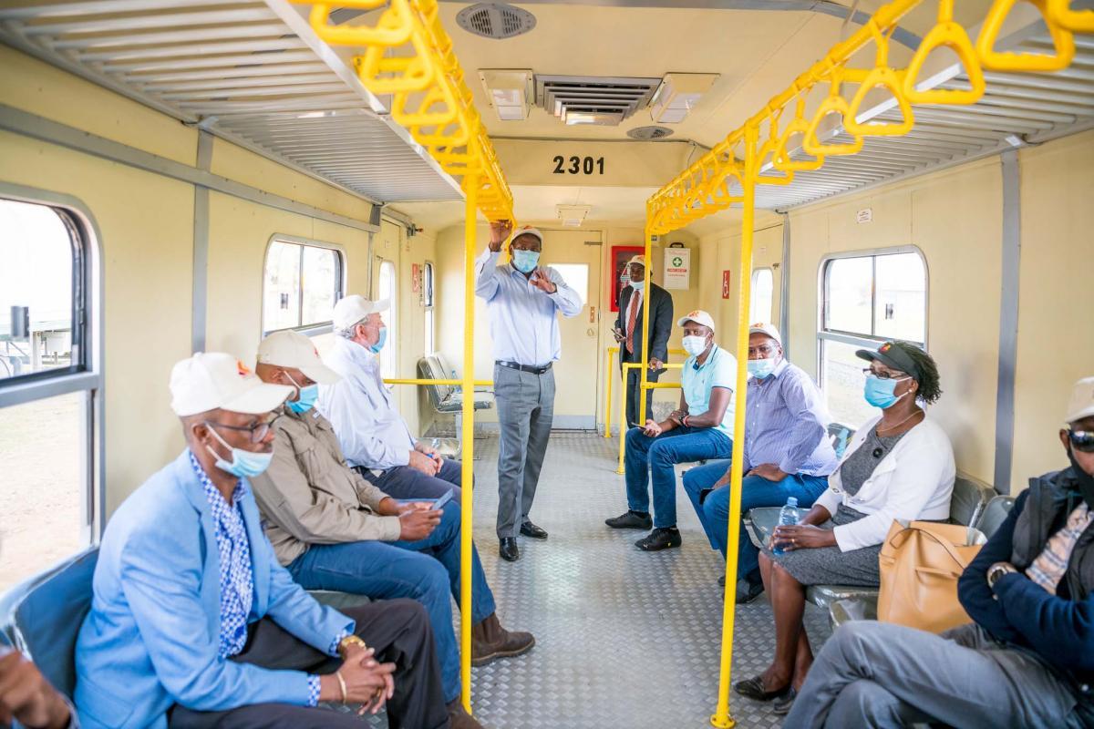 Nanyuki-Nairobi Railway Test Run with regional business community.