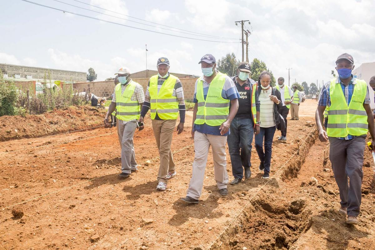Governor inspects the civil works program in Nyahururu town.