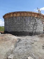 water storage tanks for Nganoini water project,