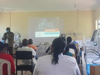 NTRH Staff Training on use of Ventilators