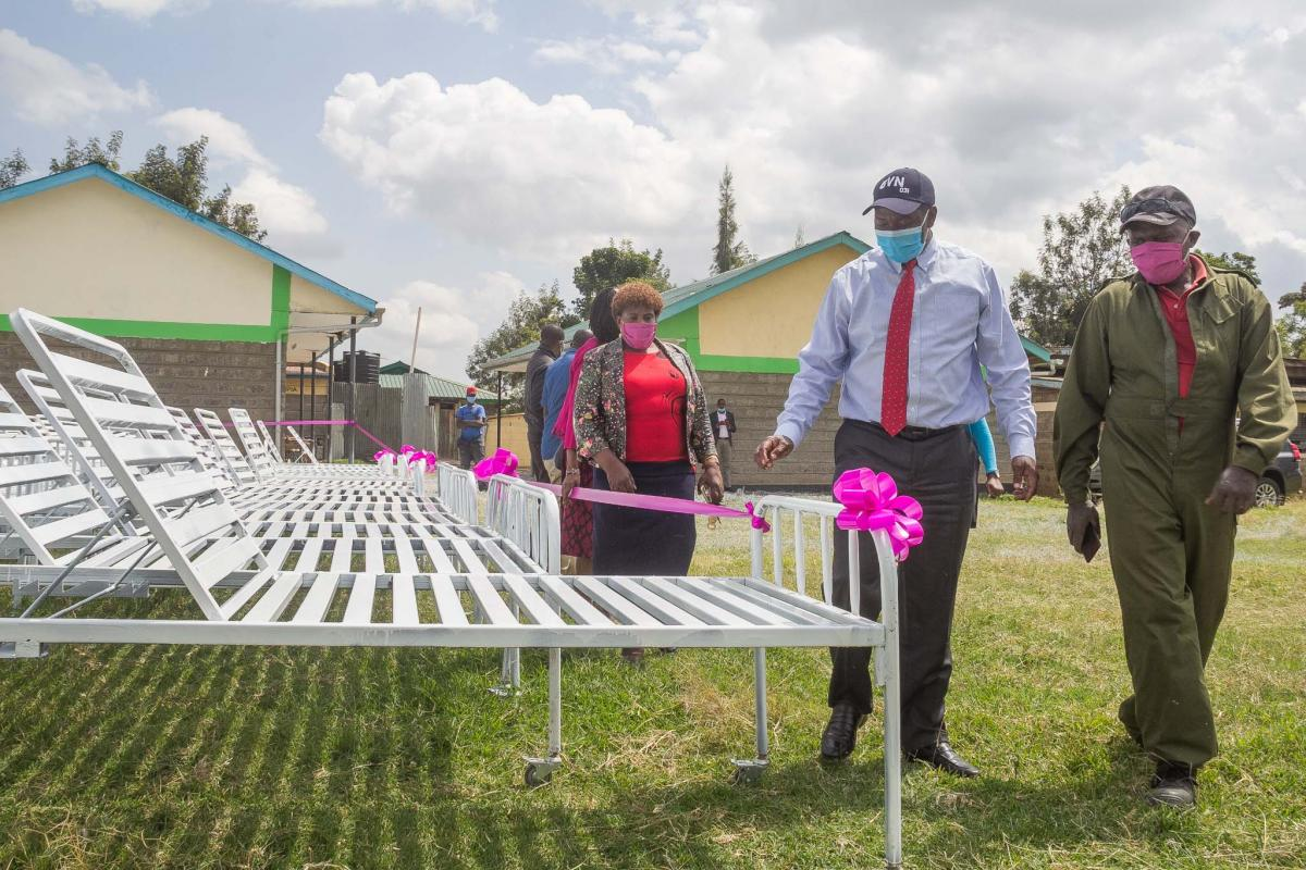 Governor inspects hospital beds produced at Nanyuki VTC