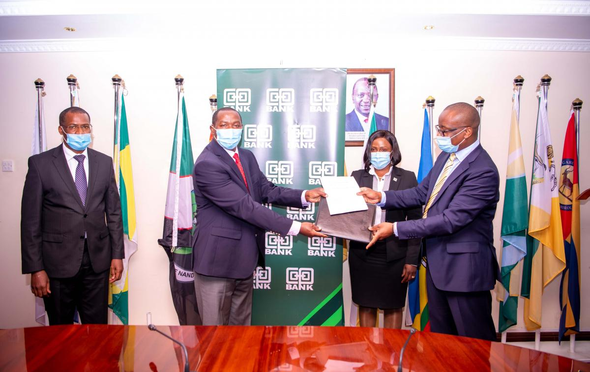 MOU signing between Laikipia County and Cooperative Bank of Kenya; a 300 Million economic stimulus package to support Laikipia Enterprises.