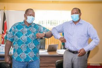 Dr. Fred Okengo Matiang'i pays a courtesy call to Gov Ndiritu…